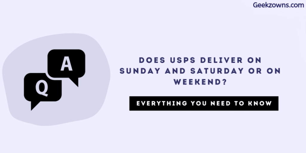 Does USPS Deliver on Weekend