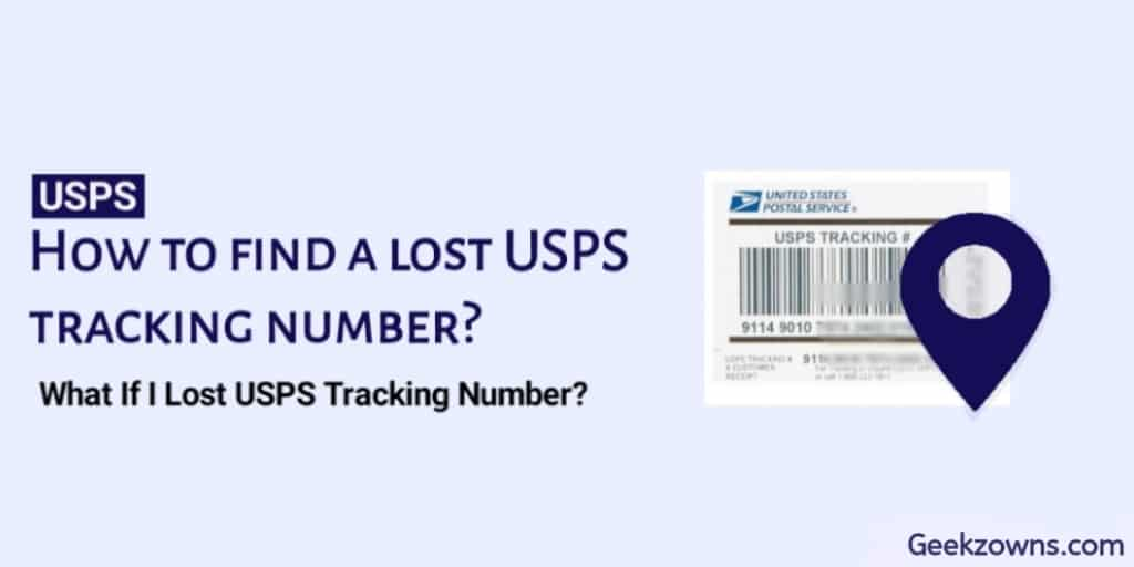 How to find a lost USPS tracking number