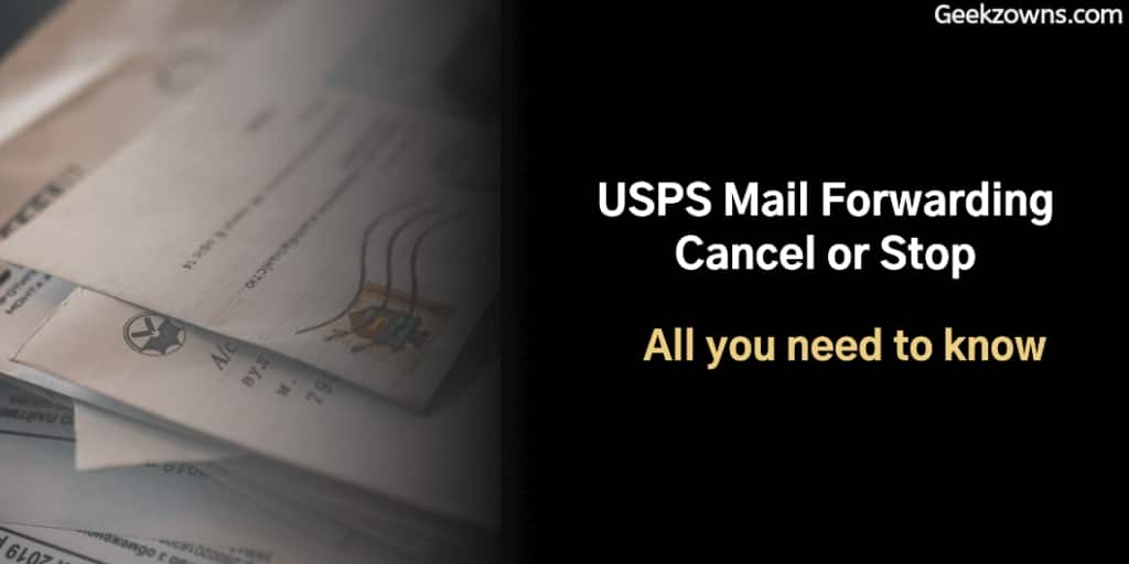 USPS Mail Forwarding Cancel or Stop